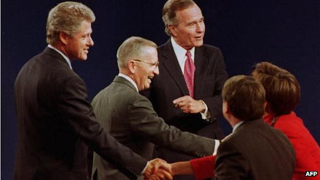 Bill Clinton, Ross Perot and George HW Bush