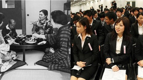 Japanese women in 1965 and today