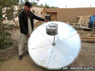 Solar kettle being made for Bamiyan villages