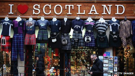 Shop called 'I love Scotland'