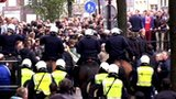 Police on the streets of Amsterdam ahead of the Ajax v Man City game