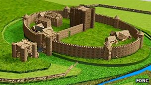 Computer generated image of Northampton Castle