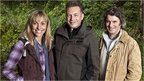 Autumnwatch presenters - Michaela Strachan, Chris Packham and Martin Hughes-Games