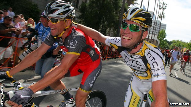 Lance Armstrong and Mark Cavendish