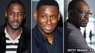 Idris Elba, David Harewood and Lennie James