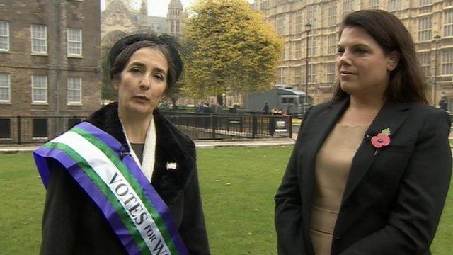 Helen Pankhurst and Caroline Noakes