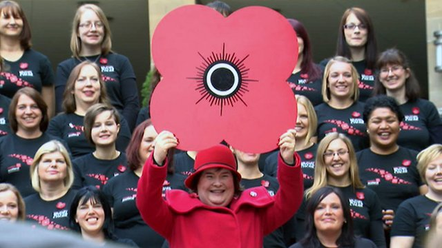 Susan Boyle and the Scottish military wives choir