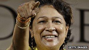 Trinidad and Tobago's prime minister, Kamla Persad-Bissessar