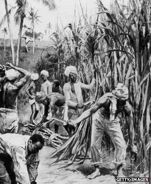 Artist's impression of a sugar plantation circa 1897
