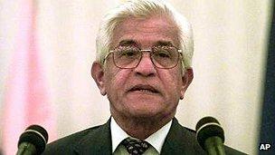 Former premier Basdeo Panday