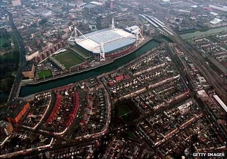 Cardiff aerial picture