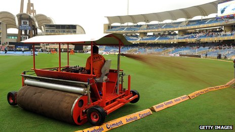 Super sopper roller at a cricket international in Mumbai