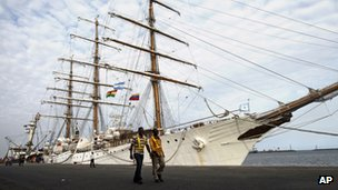 Argentine ship Libertad in the port of Tema on 23 October 2012