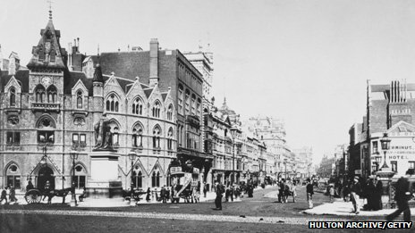 St Mary Street, Cardiff in 1895