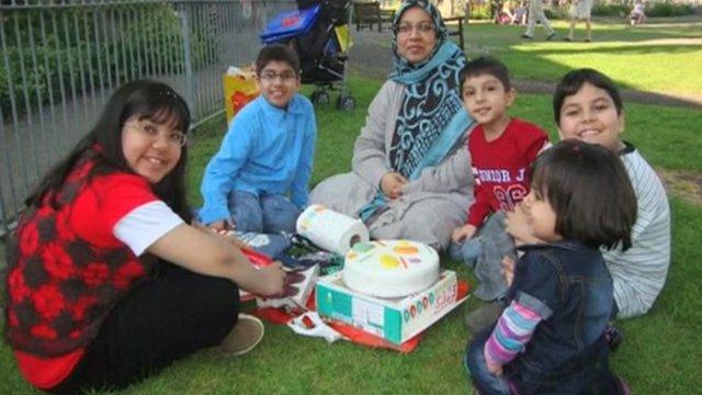 Dr Sabah Usmani with her children