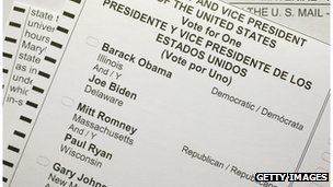 An absentee ballot