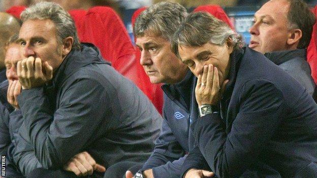 Roberto Mancini and Brian Kidd