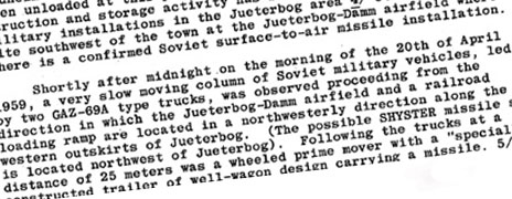 Excerpt from CIA report
