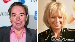 Andrew Lloyd Webber and Judy Craymer
