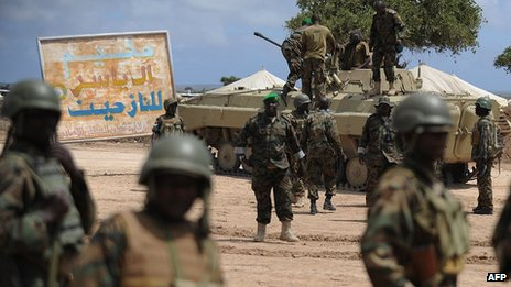 Ugandan troops in Somalia (file photo)