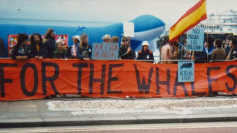 Protest in Brighton in 1982