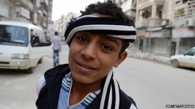 Teenage boy in Syria