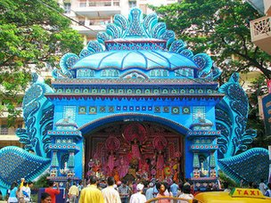 A Durja festival 'Pandal' (religious structure)