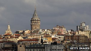 Galata Tower from the harbour