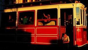 Tram in Istiklal