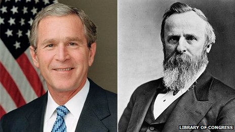 George Bush and Rutherford B Hayes