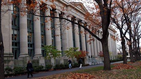 Harvard in autumn