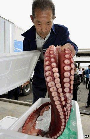 Fukushima seafood sale