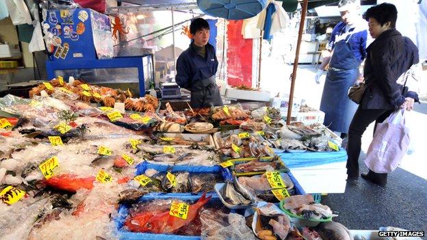 Fish in Tokyo market