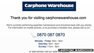 Carphone Warehouse screenshot