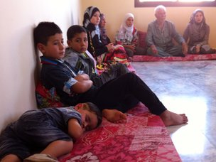 A Syrian family who have sought refuge in Lebanon