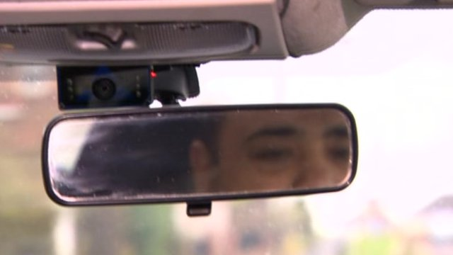 CCTV camera in taxi