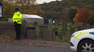 Police at All Saints Church, Silkstone