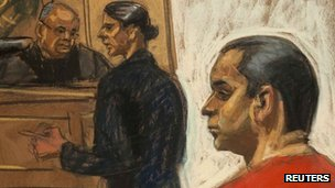 Court sketch of Gilberto Valle, New York, New York 25 October 2012