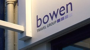 Bowen Travel Group sign