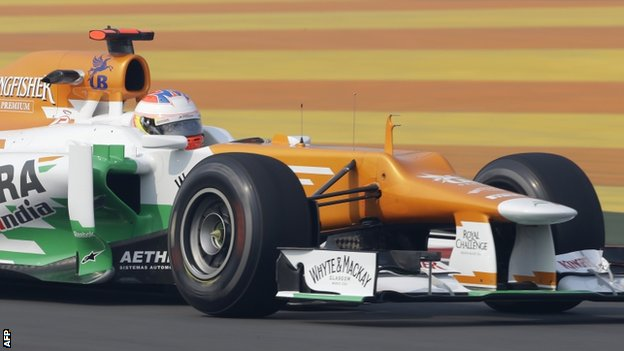 Paul Di Resta during first practice at the Buddh International Circuit in Noida