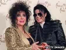 Liz Taylor with Michael Jackson