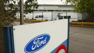 Ford factory in Southampton