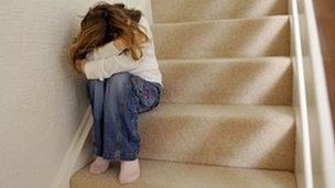Young girl in distress