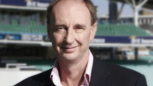 Jonathan Agnew at cricket ground
