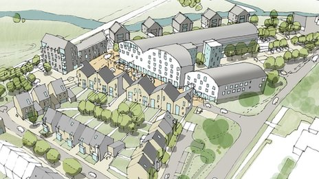 Artist's impression of the Fisons development in Bramford