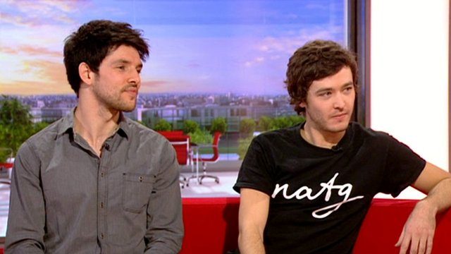 Colin Morgan and Alexander Vlahos
