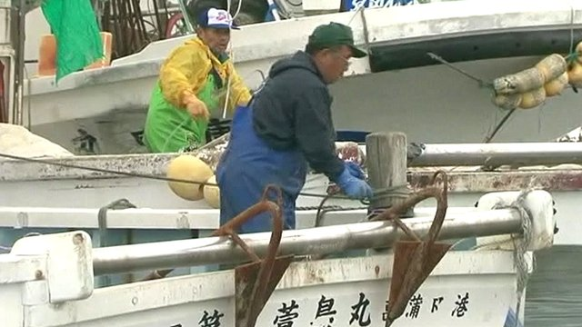 Fishermen in Fukushima