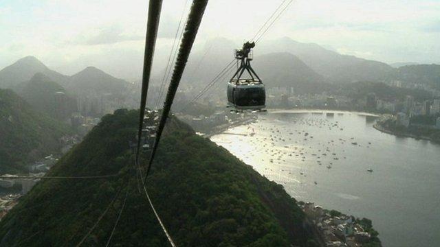 Cable car in Rio de Janeiro