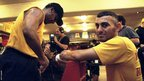 Emanuel Steward and Naseem Hamed