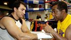 Wladimir Klitschko and Emanuel Steward